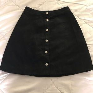 H&M Black Button Down Skirt